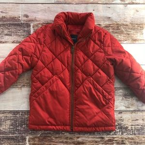 Gap red xs quilted puffer coat - euc